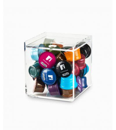Présentoir cube plexiglas